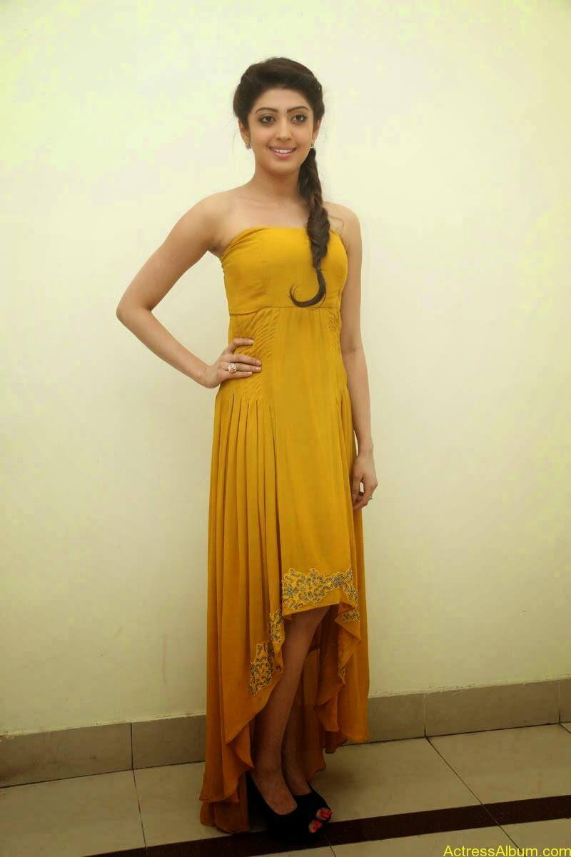Praneetha new look in yellow topless (7)