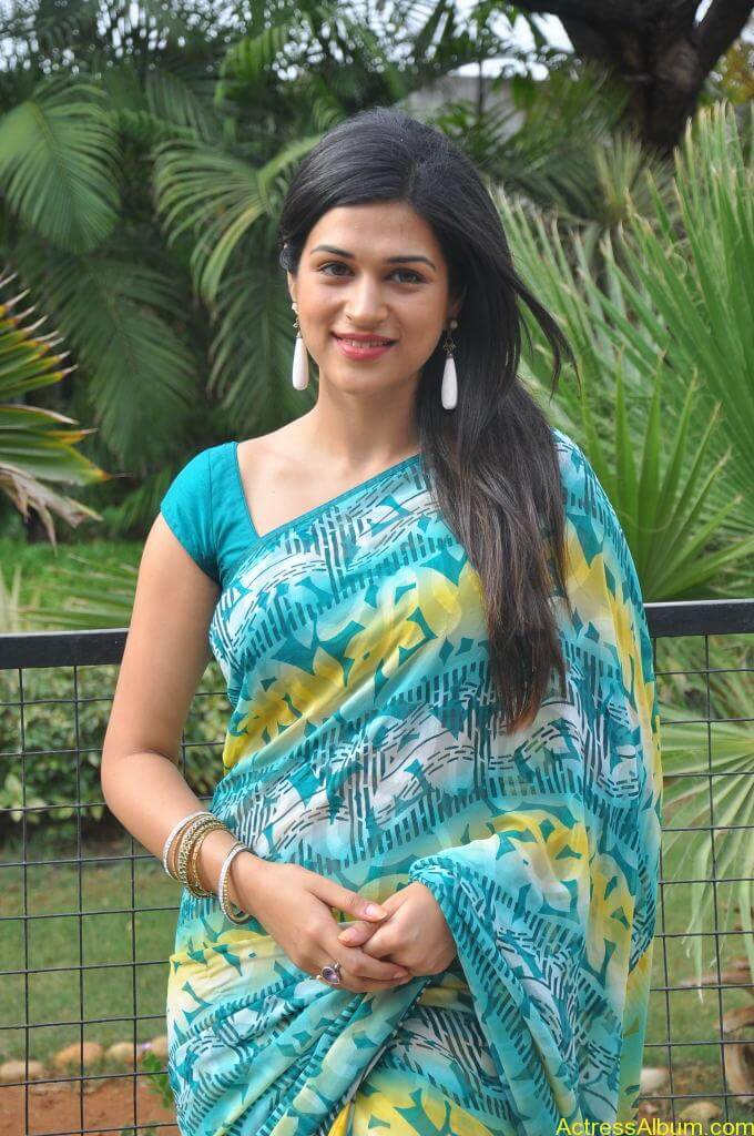 Shraddha Das in blue saree Photos2