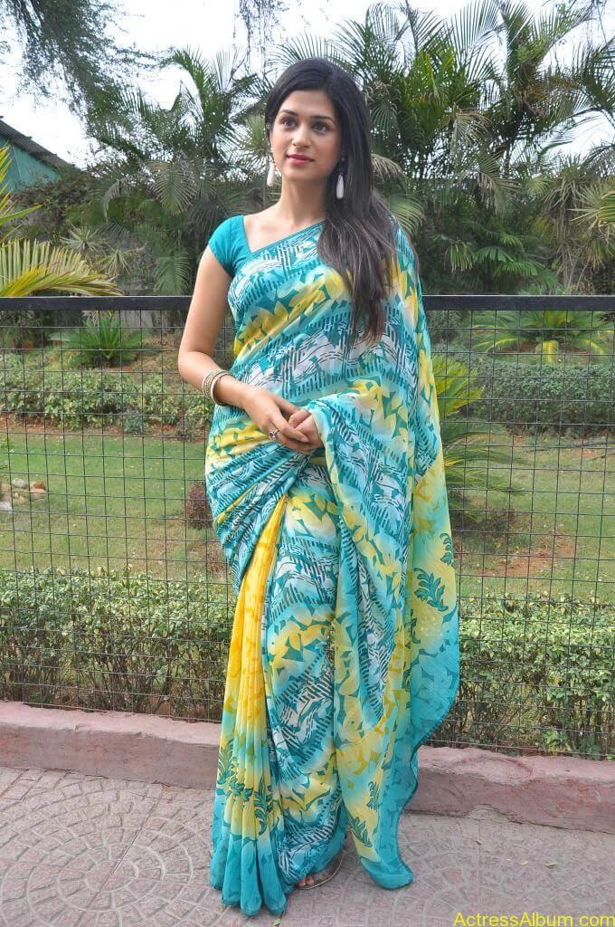 Shraddha Das in blue saree Photos5