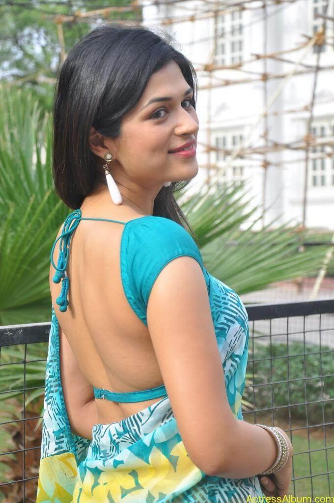 Shraddha Das in blue saree Photos9