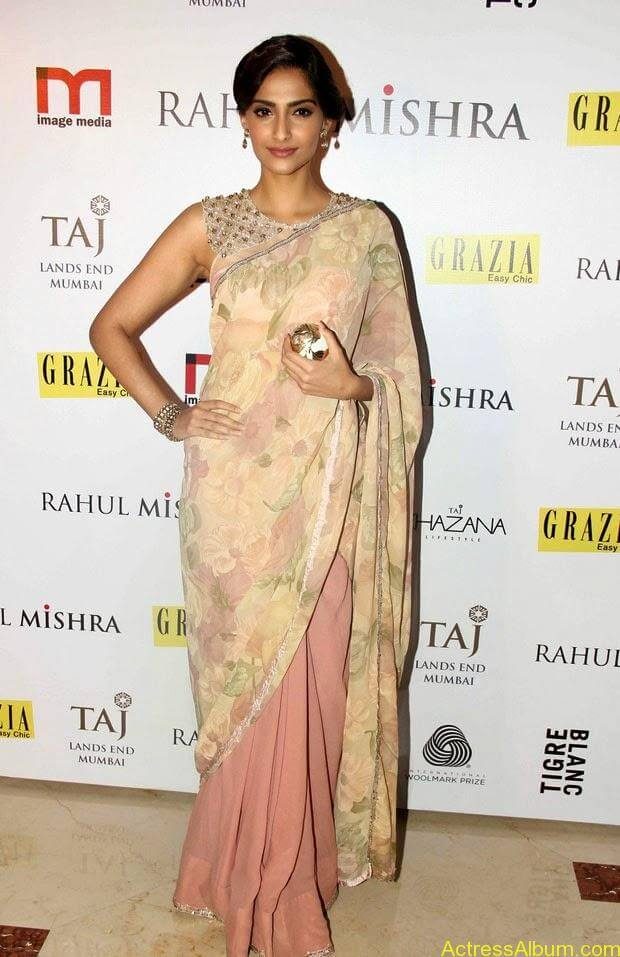Sonam Kapoor latest hot pictures in transparent saree  (2)