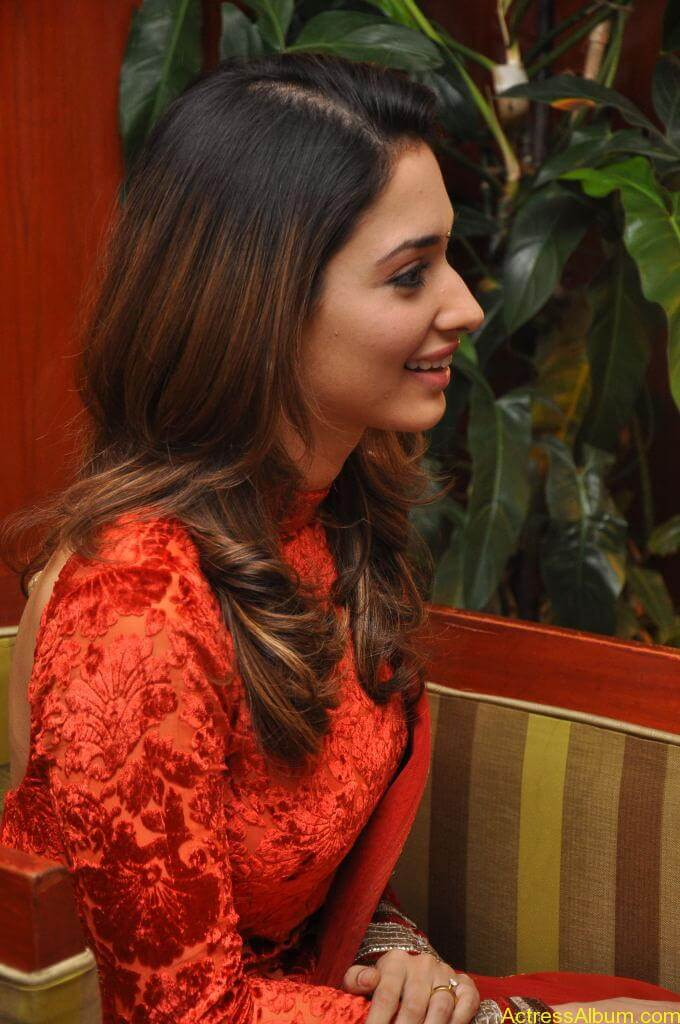 Tamanna In Red Churidar