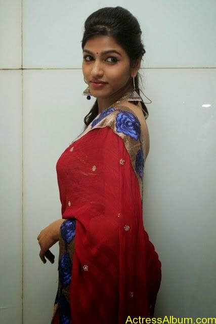 Tamil Actress Dhanshika hot in saree (2)
