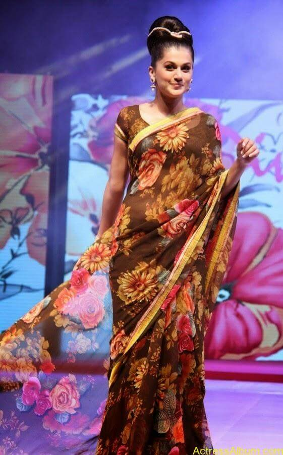 Tapsee  Saree stills (5)