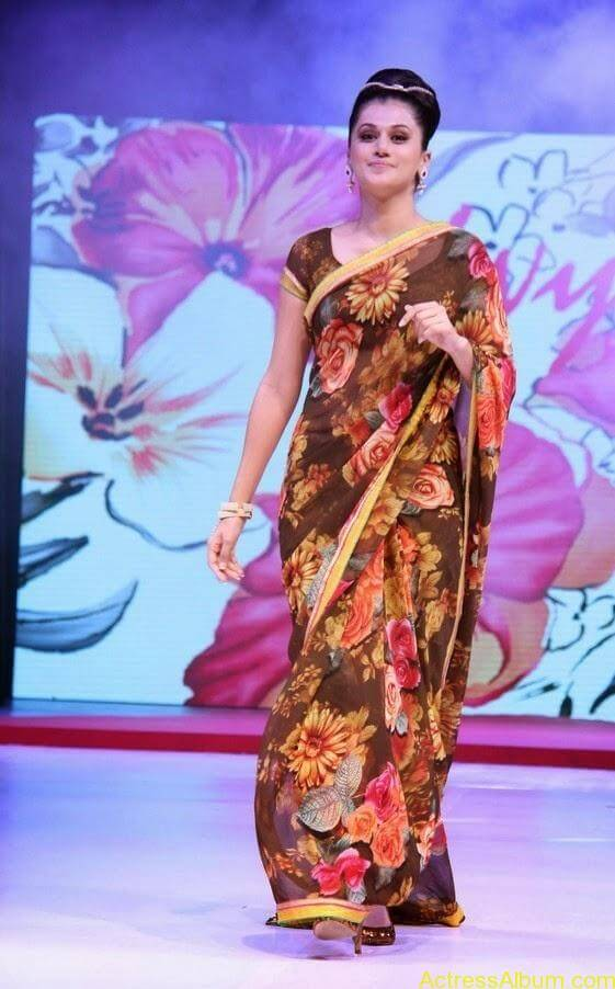 Tapsee  Saree stills (6)