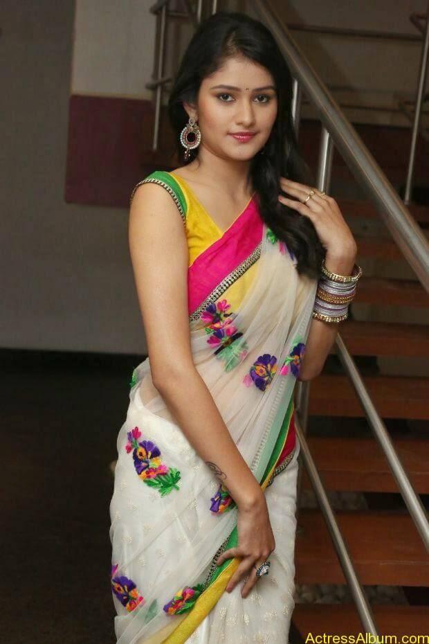 Telugu Actress Khushi hot saree stills  (1) (1)