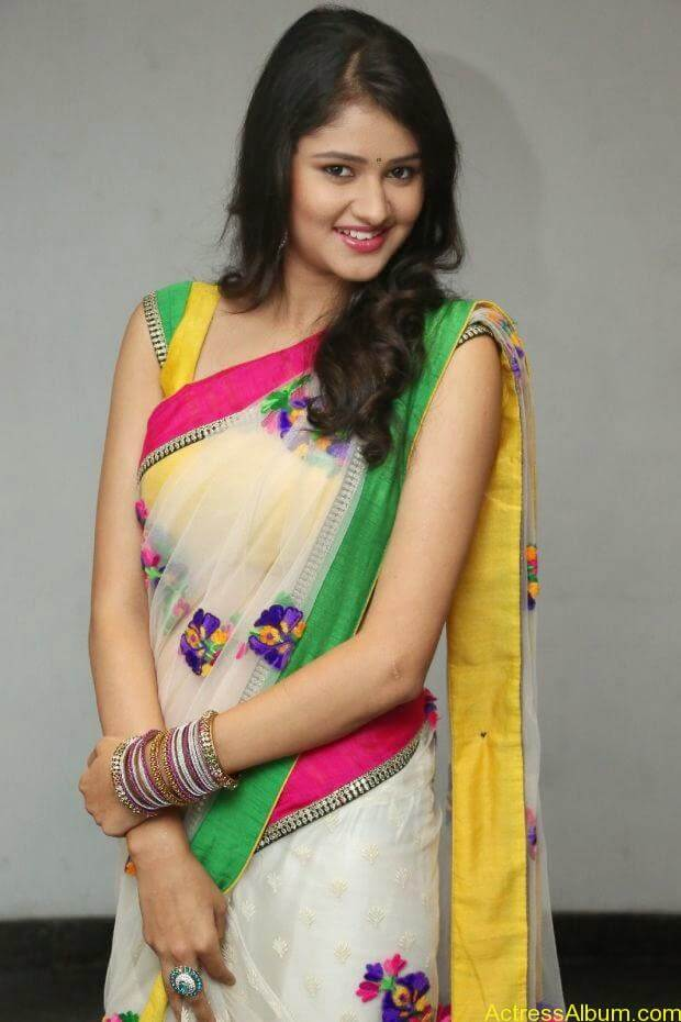 Telugu Actress Khushi hot saree stills  (4)