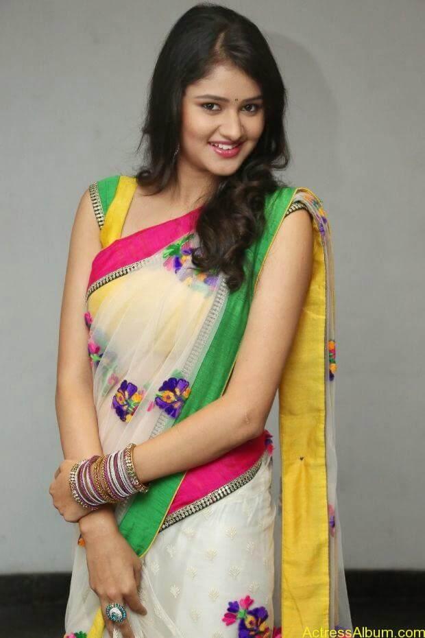 Telugu Actress Khushi hot saree stills  (4)