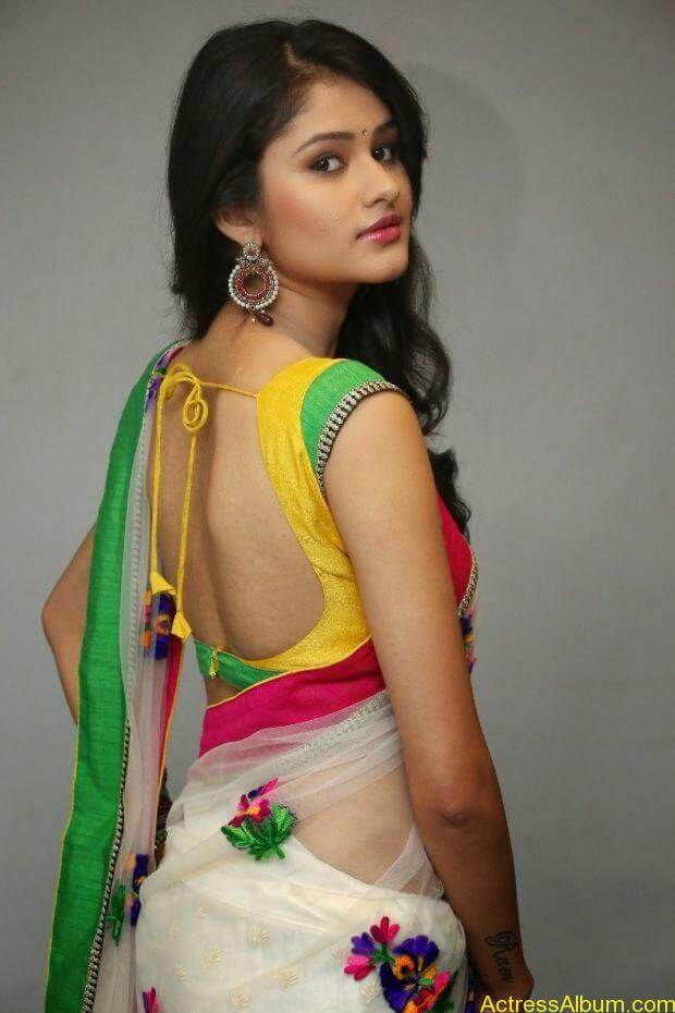 Telugu Actress Khushi hot saree stills  (6)