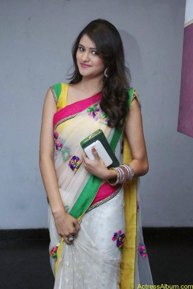 Telugu Actress Khushi hot saree stills  (7)