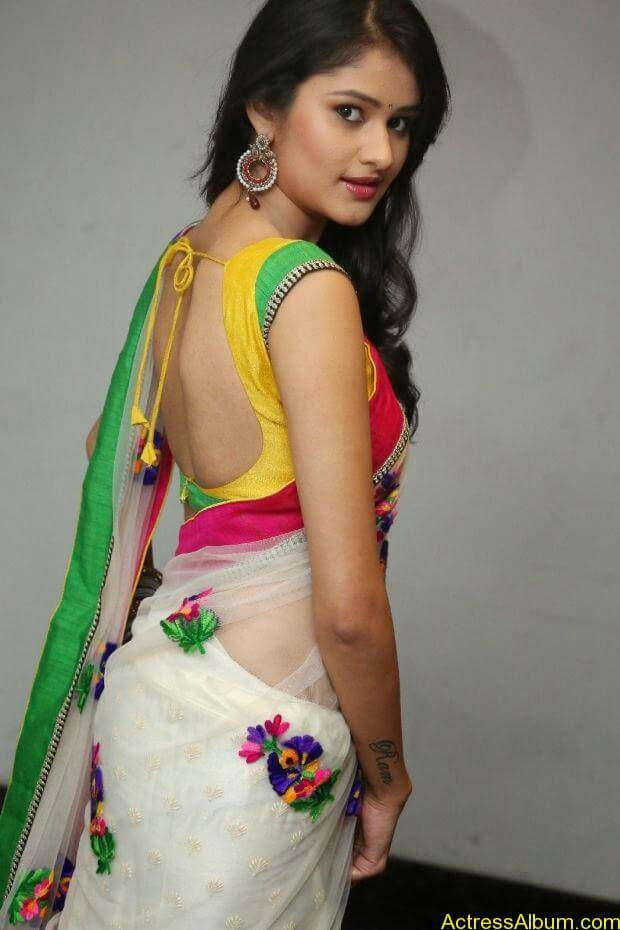Telugu Actress Khushi hot saree stills  (8)