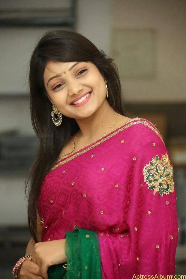 Telugu Actress Priyanka latest wallpapers in pink saree (7)