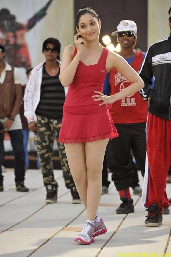 Tamanna In Red Dress