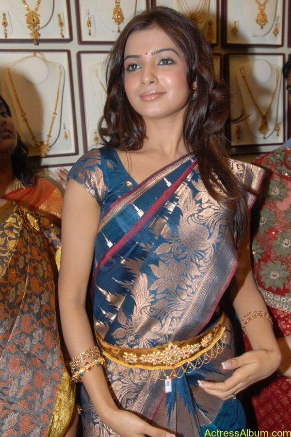 Samantha Hot Photos At RKS Silks showroom Launch (9)