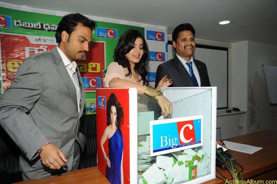 Samantha stills at big c rojuko laksha contest (10)