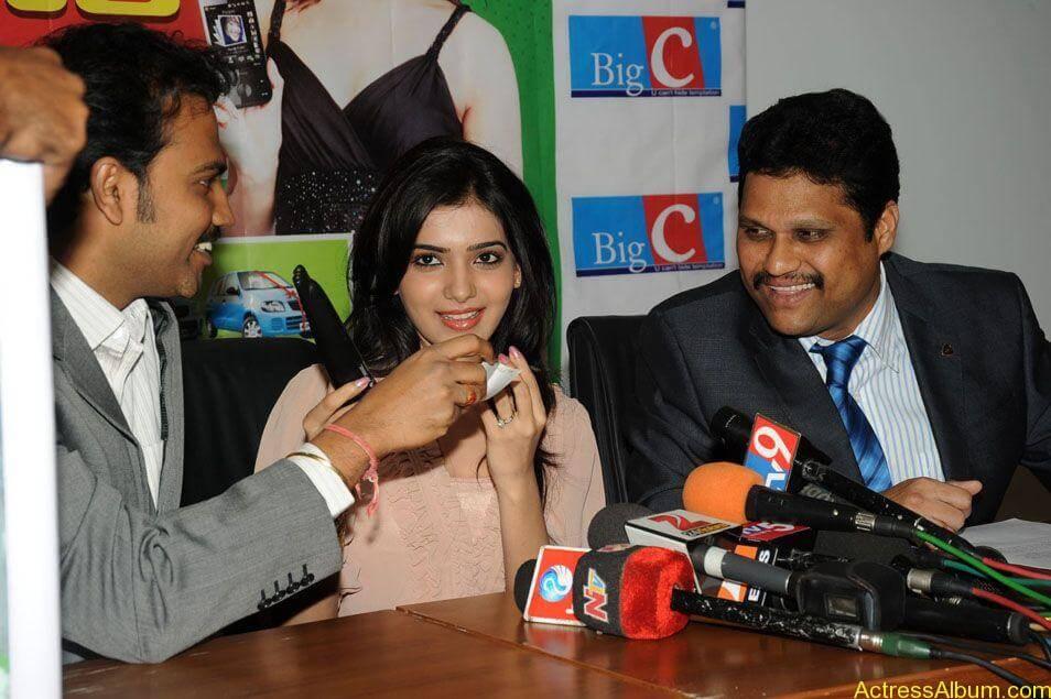 Samantha stills at big c rojuko laksha contest (13)