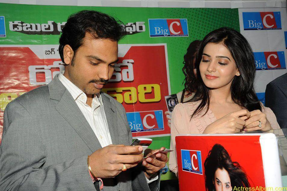 Samantha stills at big c rojuko laksha contest (14)