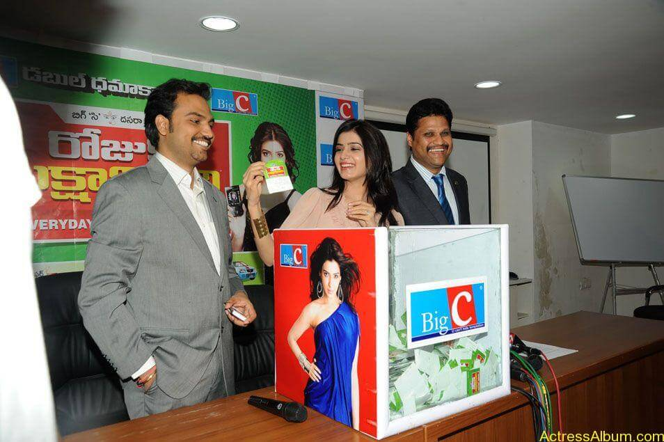 Samantha stills at big c rojuko laksha contest (17)