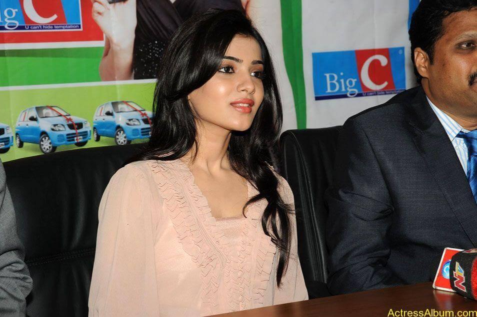 Samantha stills at big c rojuko laksha contest (8)