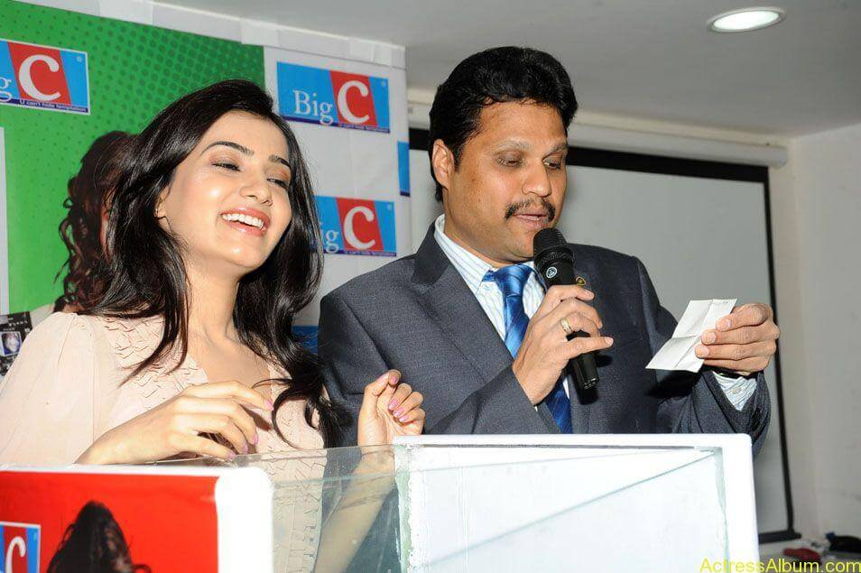 Samantha stills at big c rojuko laksha contest (9)