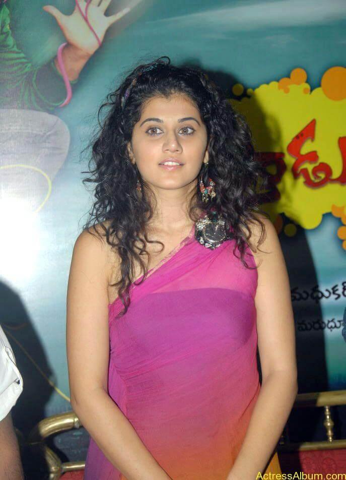 Taapsee hot stills At Vasthadu Naa Raju Movie Logo Launch (21)