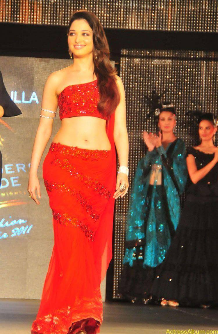 Tamanna Navel Pics In Red Dress