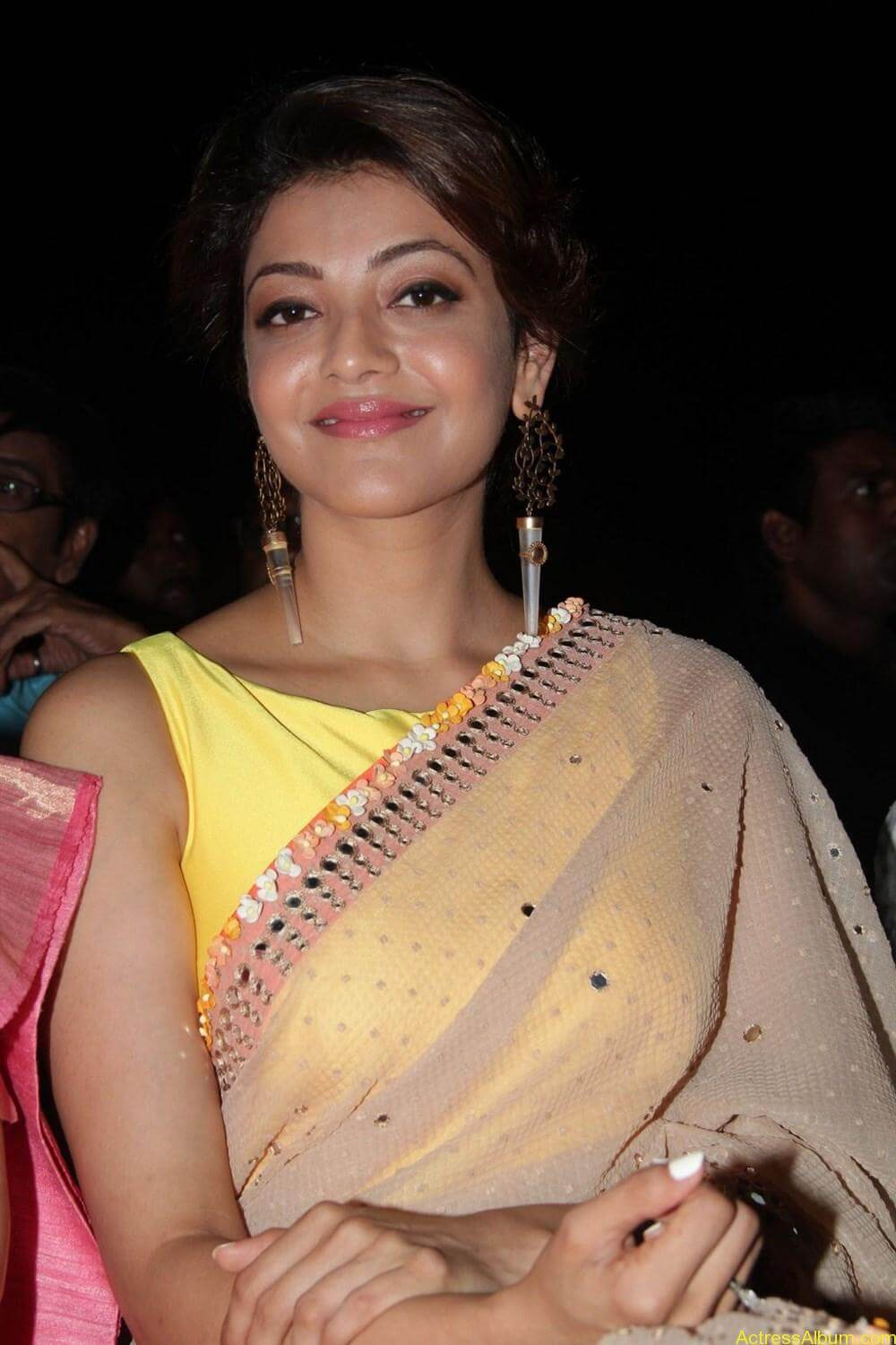 Kajal-Aggarwal-Latest-Stills-At-Paayum-Puli-Audio-Launch-7