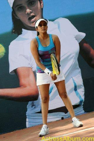 Actress Priyamani Playing Tennis Game