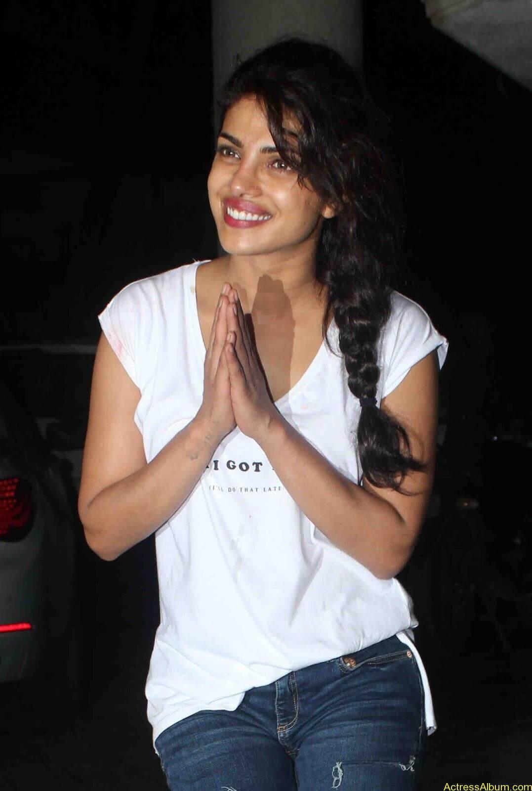 Priyanka Chopra in white shirt