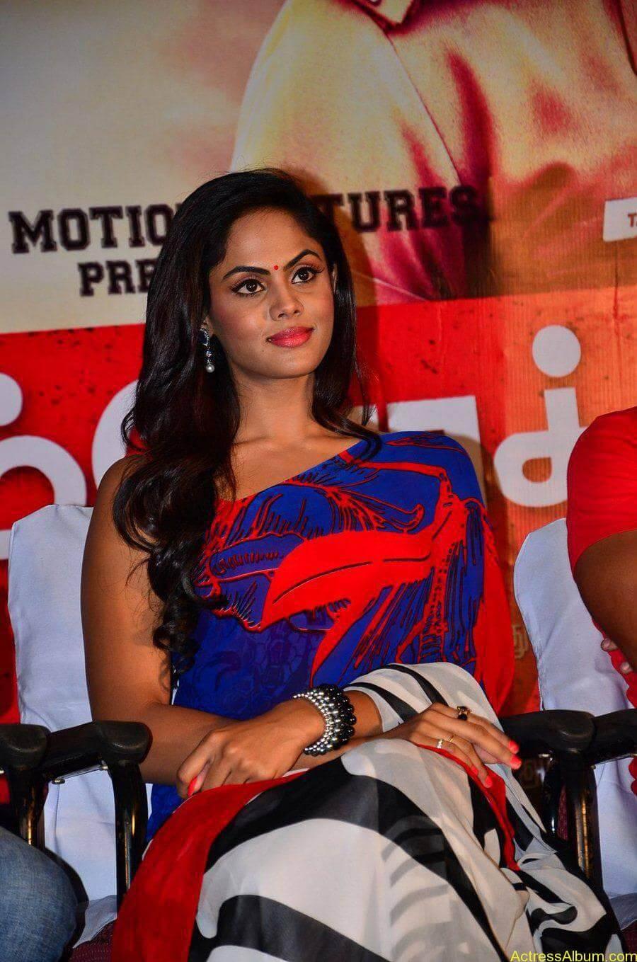 Tamil Actress Karthika Nair Hot in Blue Dress - 1