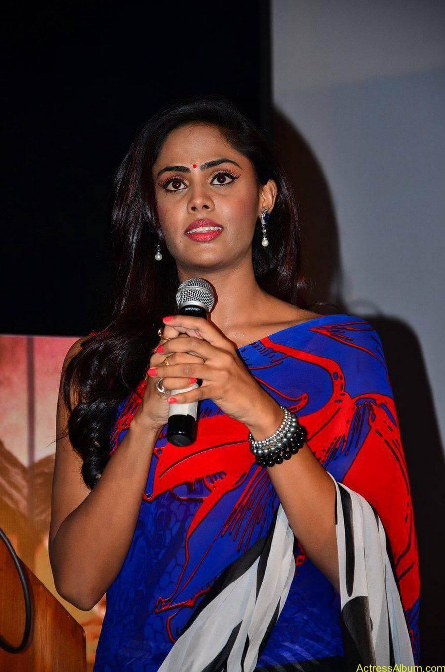 Tamil Actress Karthika Nair Hot in Blue Dress - 3
