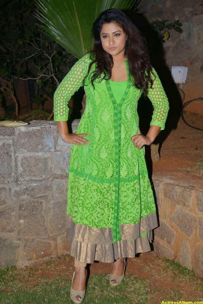 Actress Jyothi Latest Cute Hot Beautiful Green Dress Spicy Photos Gallery At Dr.Salim Movie Audio Launch (3)