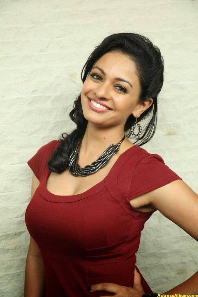 Actress Pooja Kumar Photos in Red Dress 2