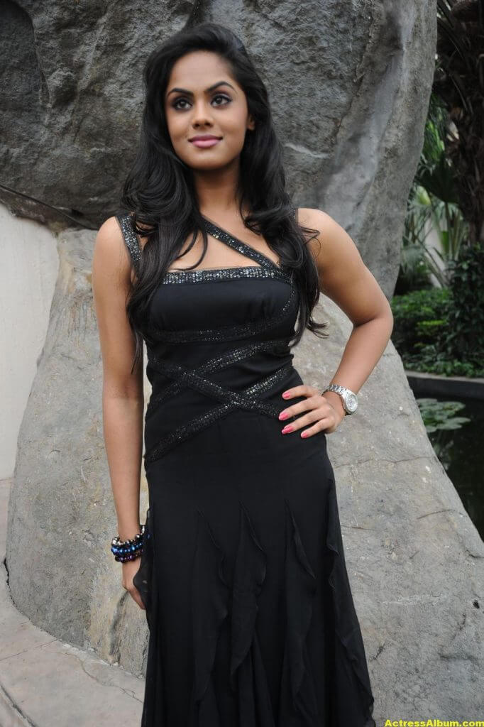 Karthika in Black Dress Photoshoot 4