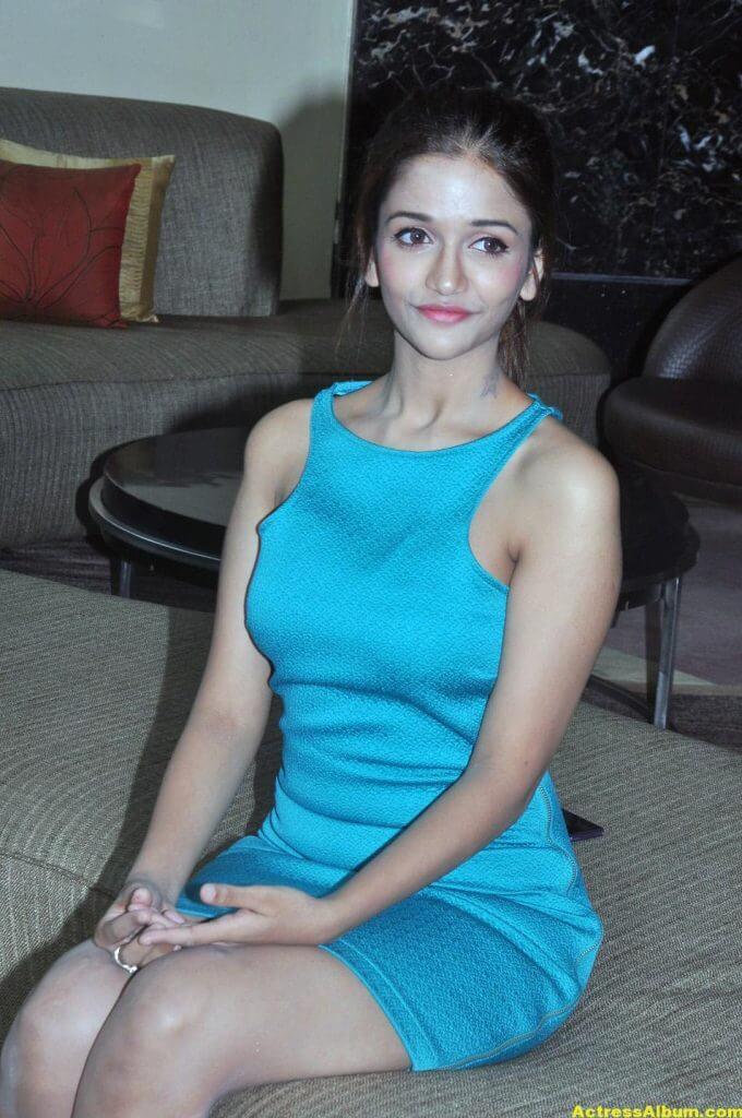 Kollywood Actress Anaika Light Blue Mini Dress Stills...3