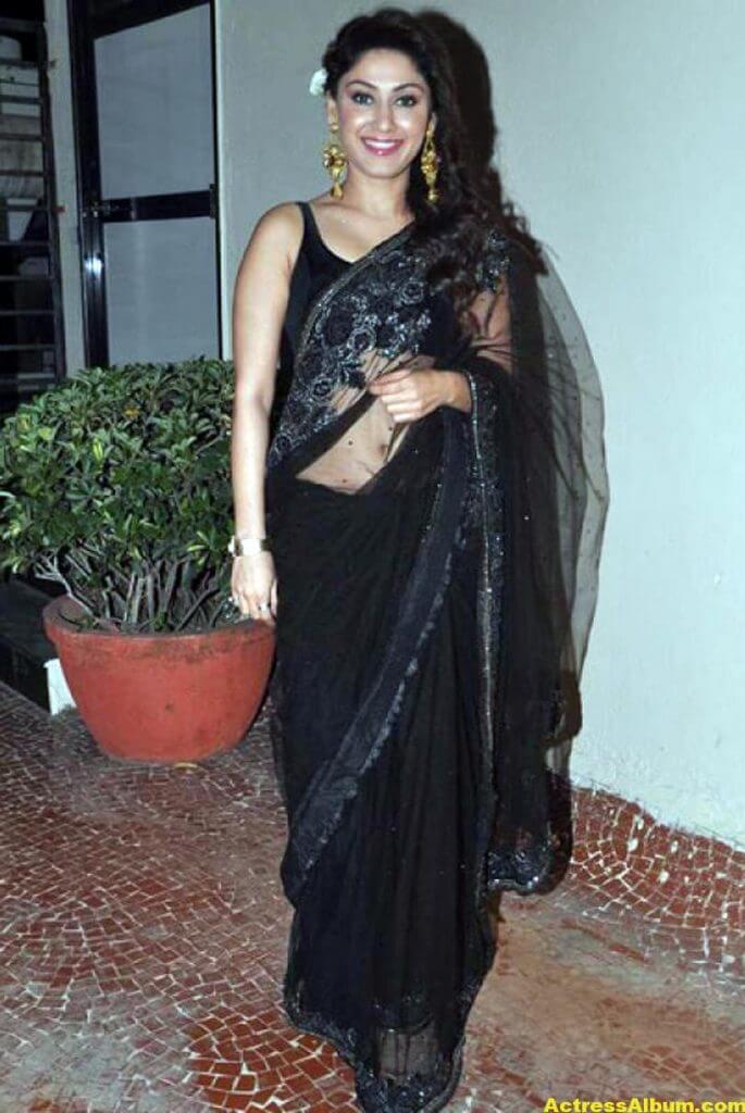 Manjari In Black Saree 1
