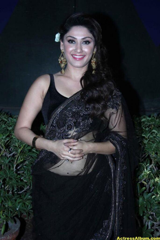Manjari In Black Saree 2