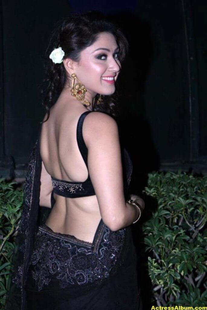 Manjari In Black Saree 3