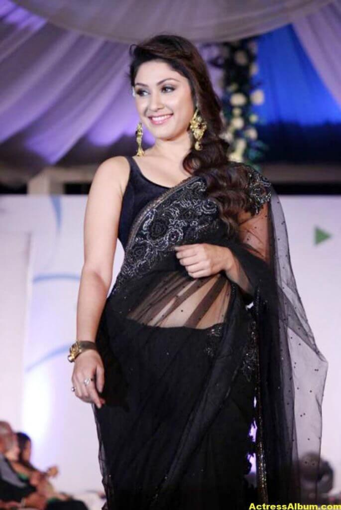 Manjari In Black Saree 4