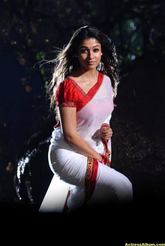 Nayanthara latest hot stills in saree 1