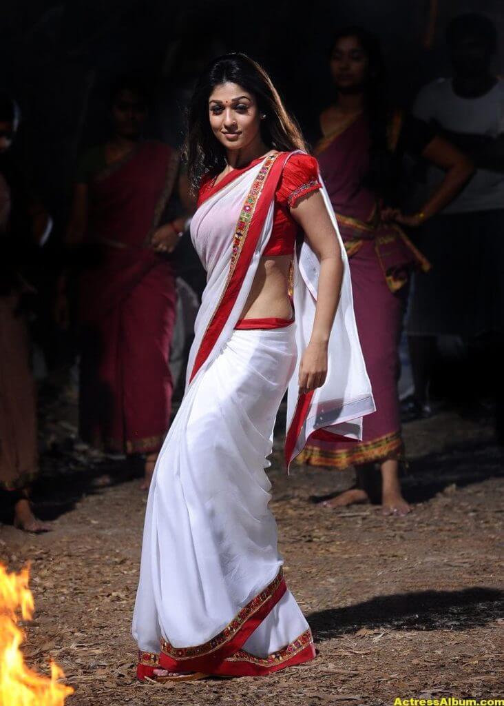Nayanthara latest hot stills in saree 3