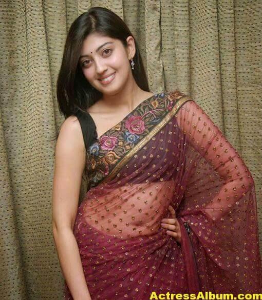 Pranitha-Navel-Show-In-Transparent-Saree-2