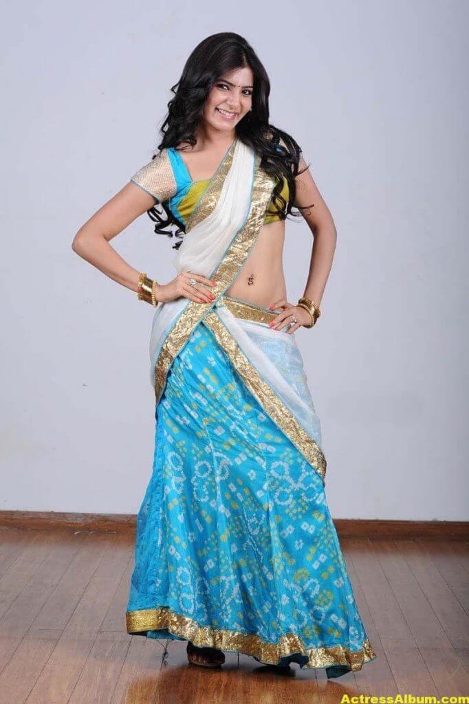 Samantha Hot navel show in half Saree 1