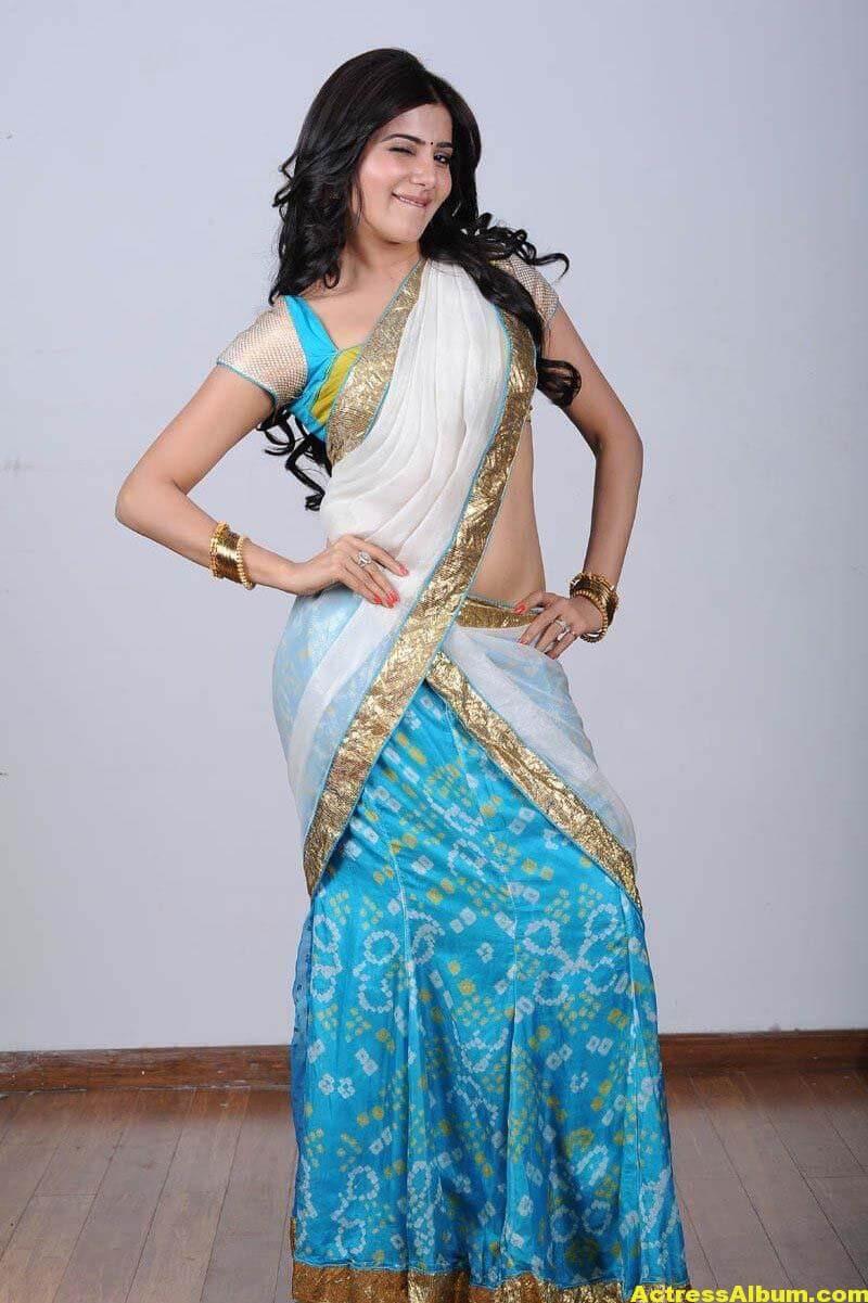 Samantha Hot navel show in half Saree 3