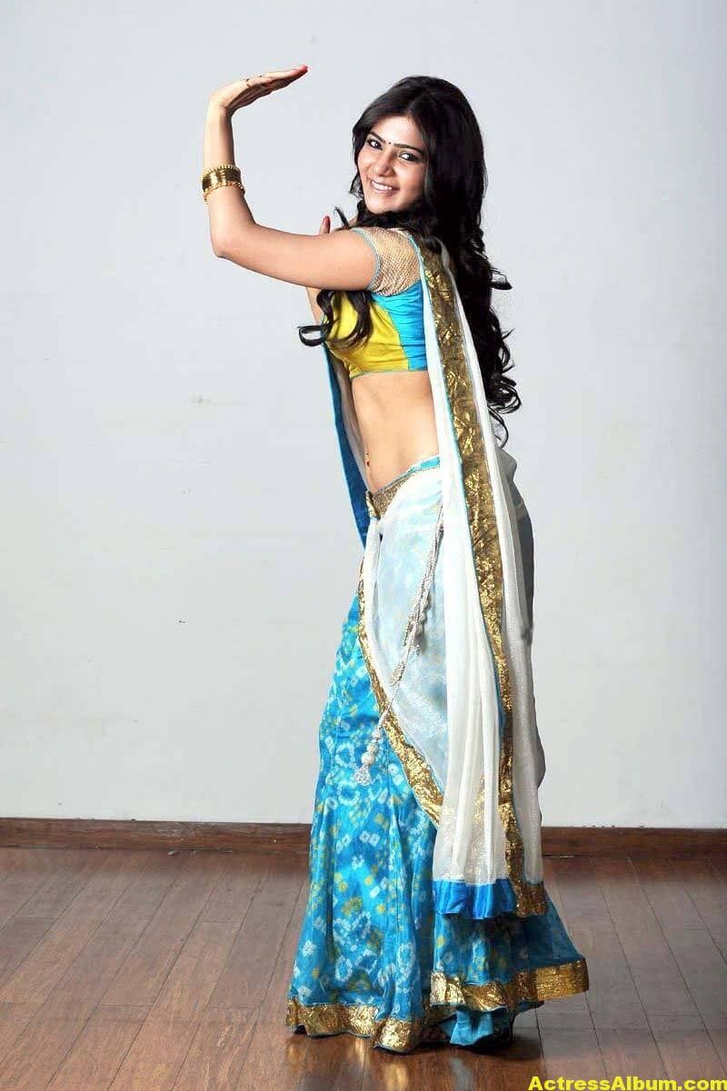 Samantha Hot navel show in half Saree 4