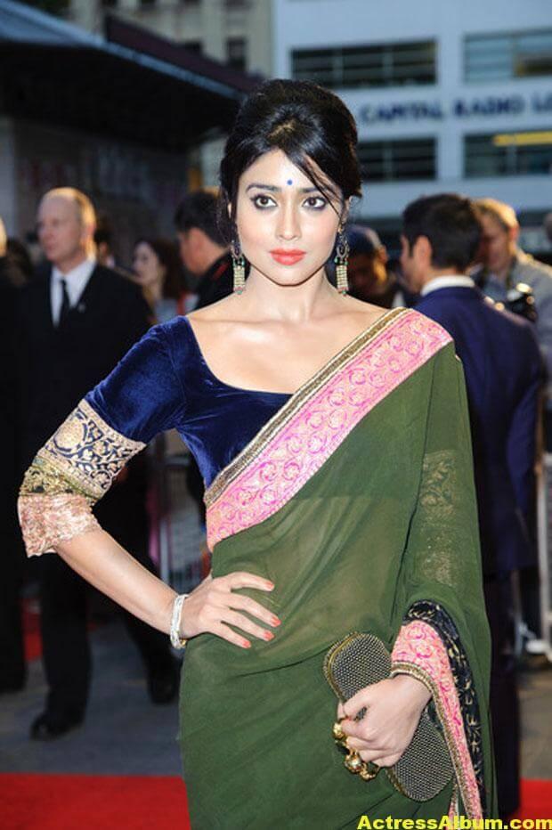 Shriya Saran Latest Saree Stills 1