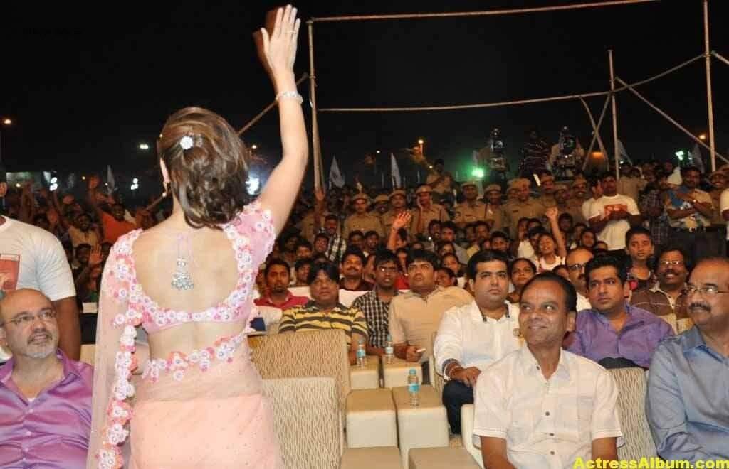 Tamanna Bhatia backless blouse transparent pink saree 5