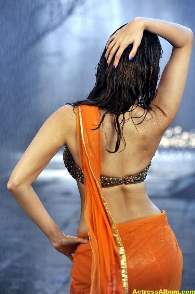 Tamanna Bhatia hot backless saree 4