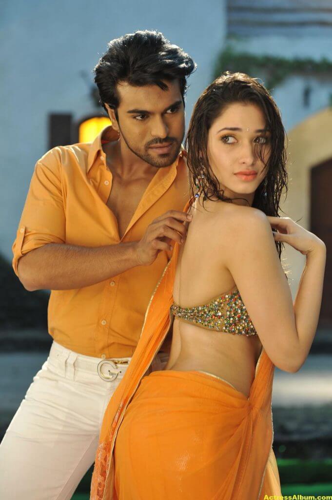 Tamanna Bhatia hot backless saree 6