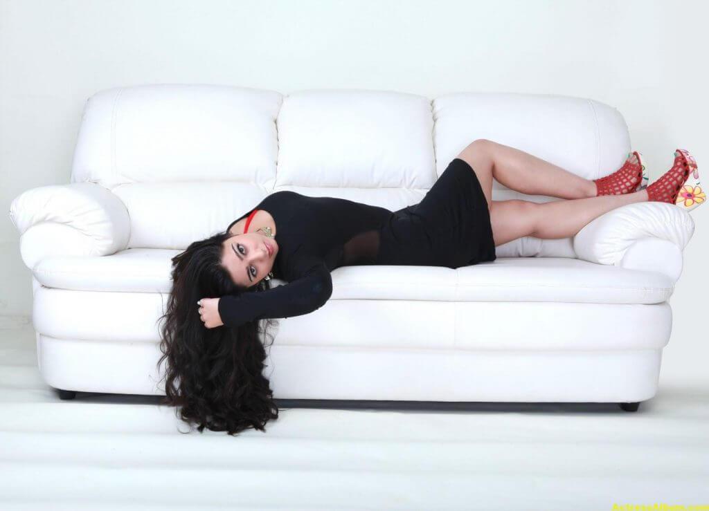 Tamil Actress Charmi Hot in Black Dress 4